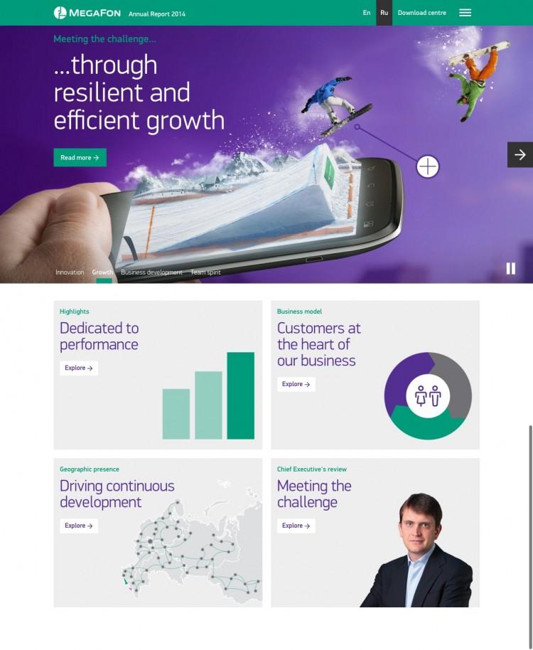 Megafon Annual Report 2014